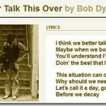 Bob Dylan Talks (Post-Speech Hoopla) to Bill Flanagan