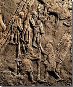 Assyrians impaling Jew 700 BC